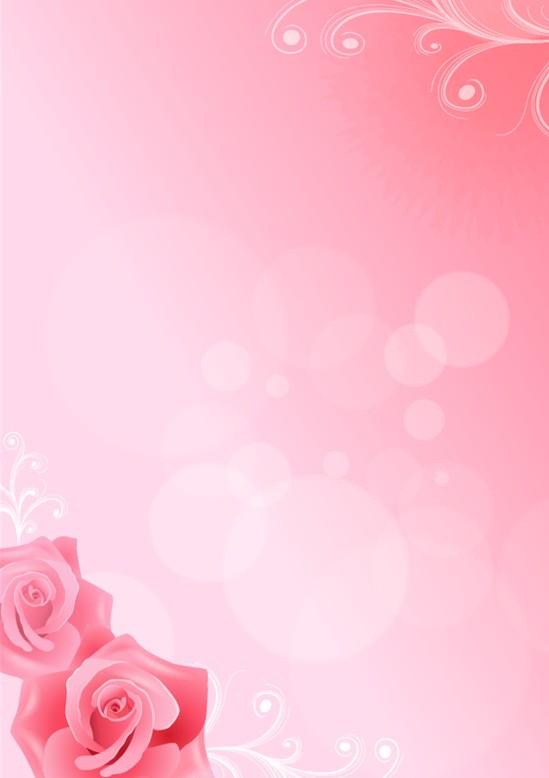 玫瑰信纸模板免费下载_10306- wps在线模板图片