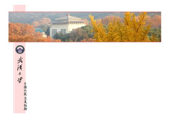 武汉大学ppt模板免费下载