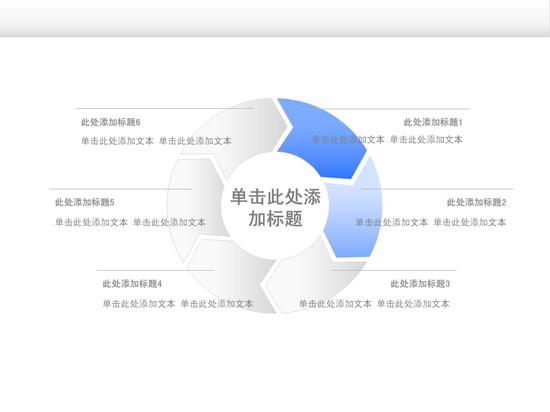 常用圆环ppt图表模板免费下载