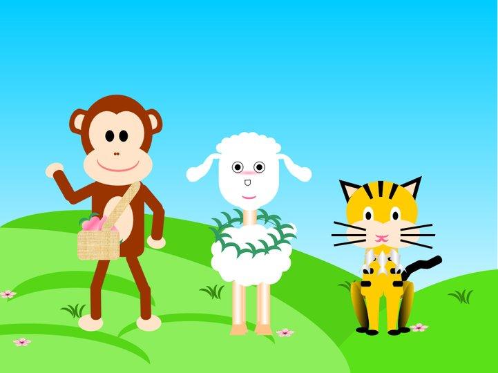 绿色卡通童趣ppt模板免费下载