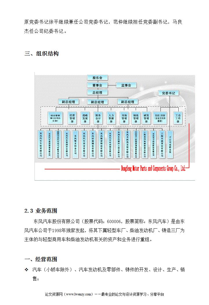 东风汽车发动机厂实习报告