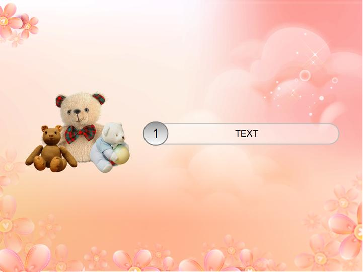 三只小熊花色系列模板