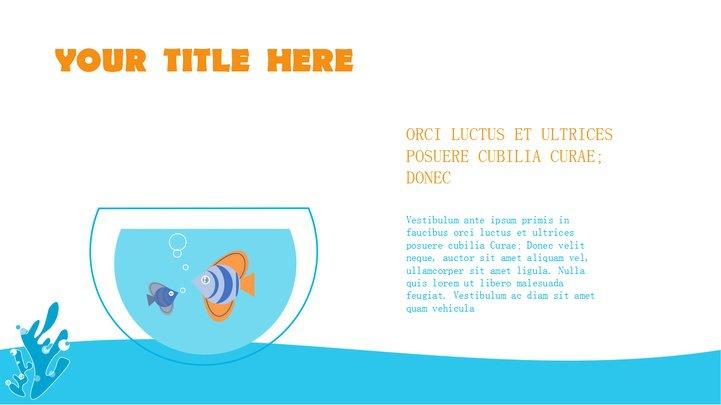 蓝色海洋卡通手绘商务通用ppt模板免费下载_518316
