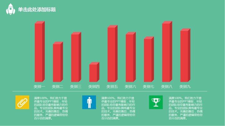 创意商务小人扁平化总结报告模板模板免费下载