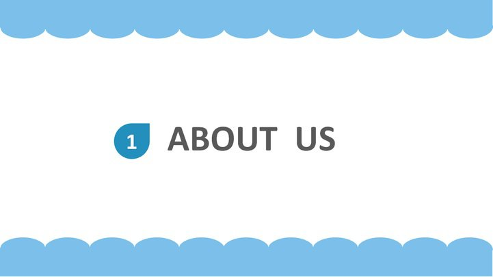 蓝白简约型商务ppt模板模板免费下载