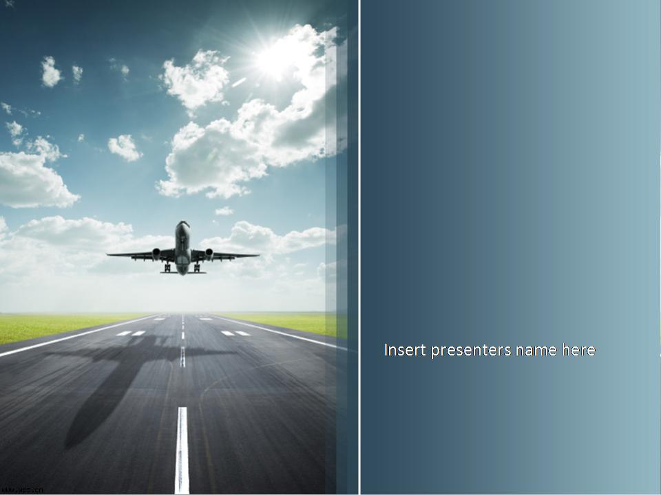 飞机起航ppt模板模板免费下载