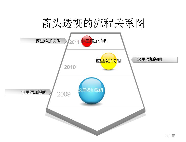 箭头透视的流程关系图模板免费下载_31039- wps在线