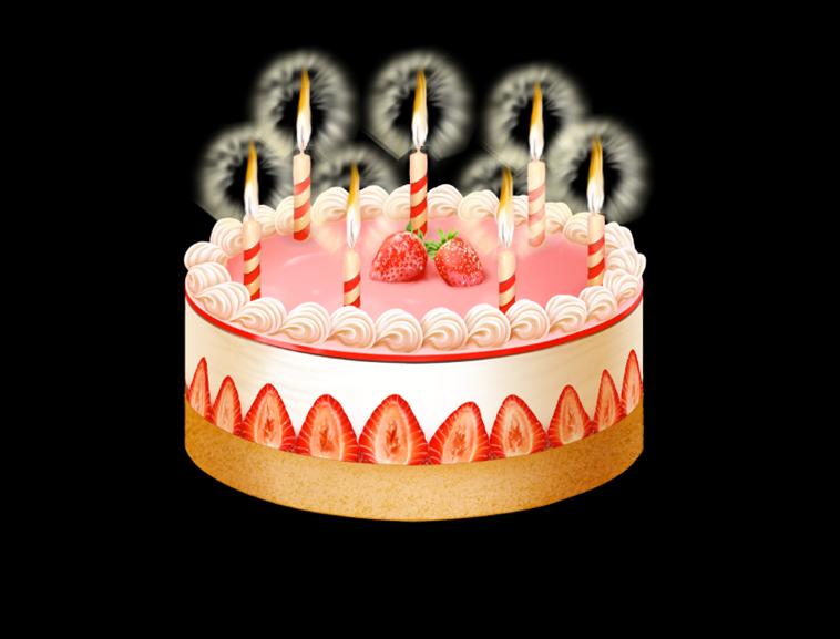 动态生日蛋糕蜡烛模板免费下载
