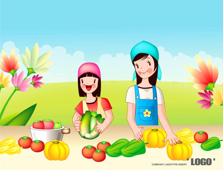 儿童水果蔬菜认知ppt模板模板免费下载