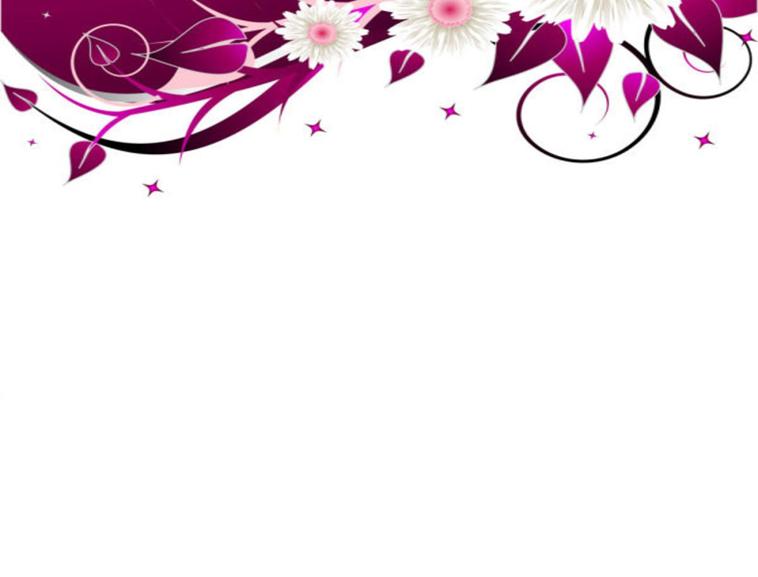 紫色花纹花朵ppt模板模板免费下载