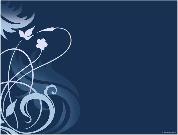 蓝色花纹背景精致ppt模板模板免费下载_45780- wps
