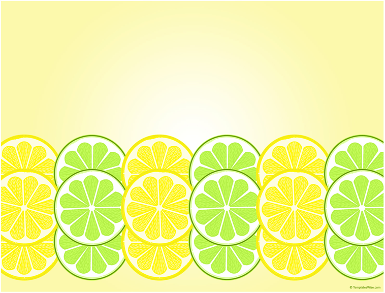 水果背景ppt模板
