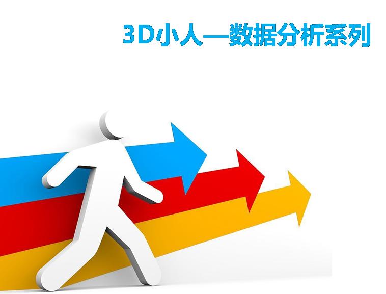 3d小人商务数据分析系列ppt素材模板免费下载模板