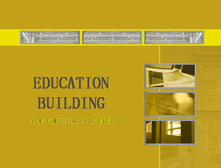 教育建筑物ppt模板免费下载_51340- wps在线模板