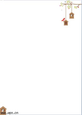 鸟巢信纸模板免费下载
