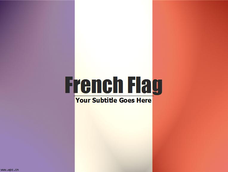 法国国旗模板免费下载
