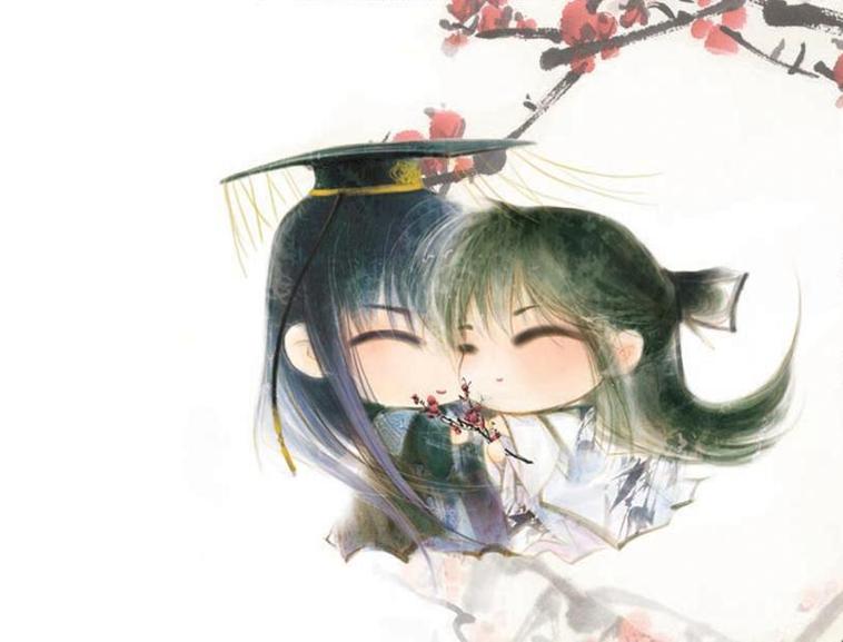 耽美小说封面(古代q版甜蜜甜美风)模板免费下载
