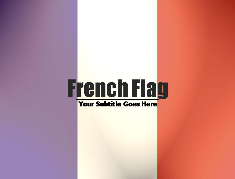 法国国旗ppt模板免费下载