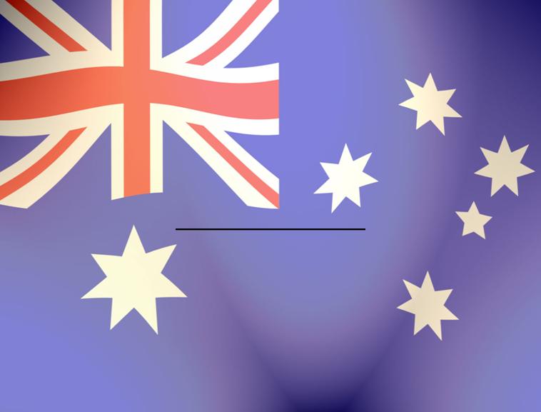 澳大利亚国旗ppt模板免费下载