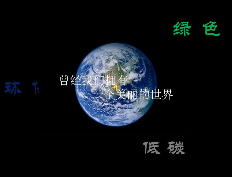 关于环境保护的ppt我们的地球