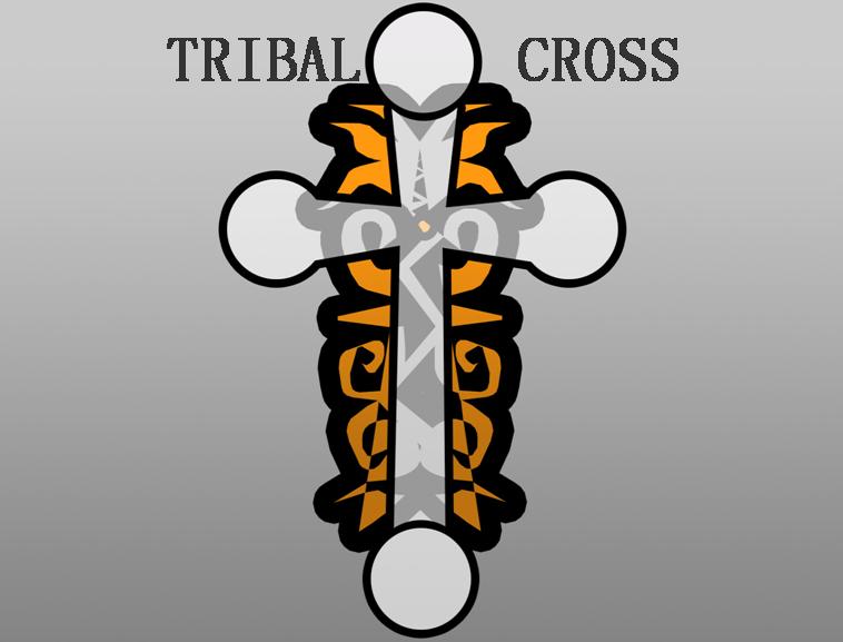 卡通十字架ppt模板