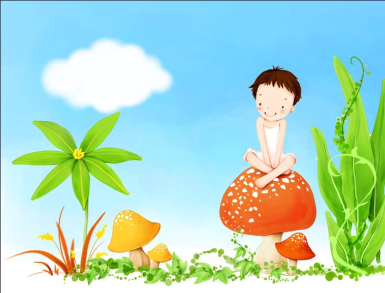 卡通背景童趣ppt模板模板免费下载