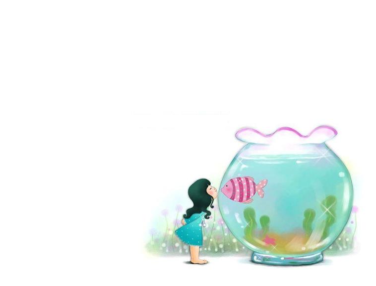 可爱儿童卡通插画ppt模板模板免费下载