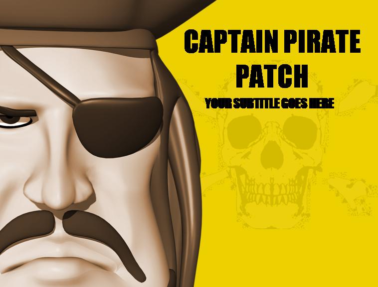可爱卡通海盗船长动态ppt模板