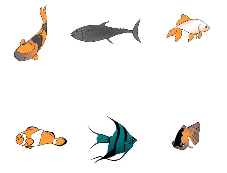 可爱海底鱼简笔画