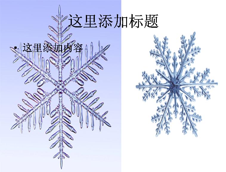 两片雪花ppt素材模板免费下载图片