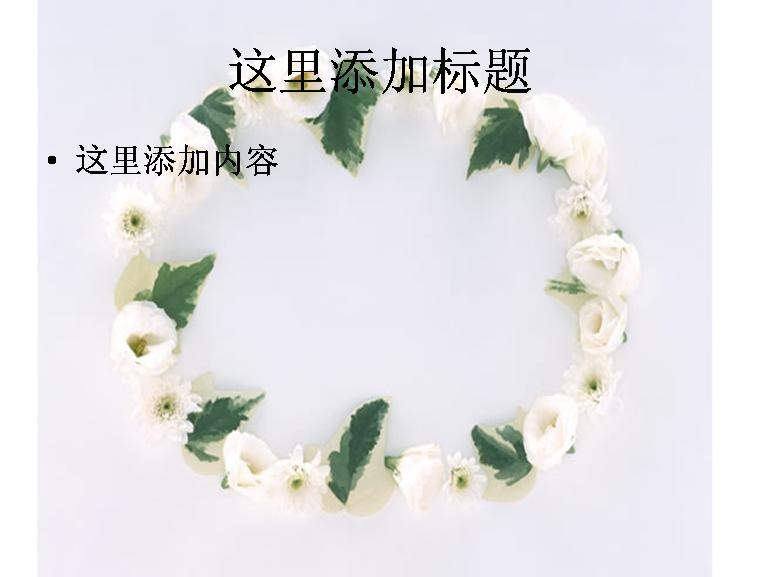 花朵植物圆形边框图片