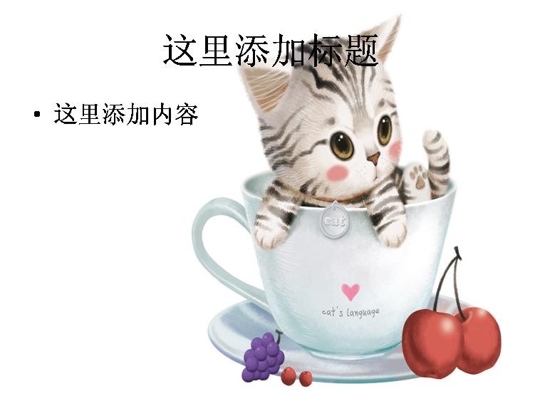 可爱小猫咪杯中天使(3)