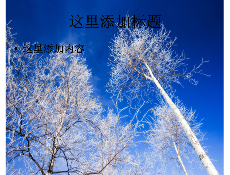 冬天树木图片ppt模板免费下载