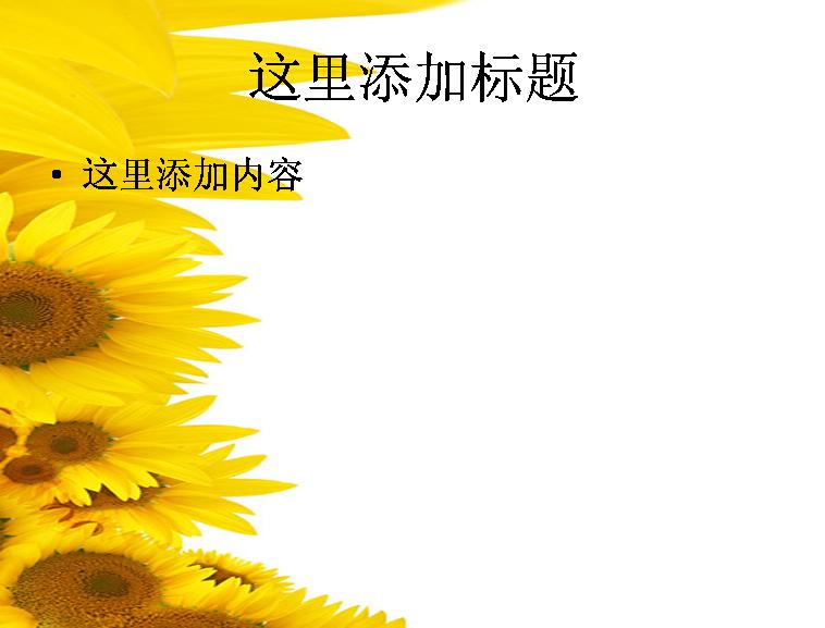 向日葵背景图片ppt素材-2花卉图片ppt