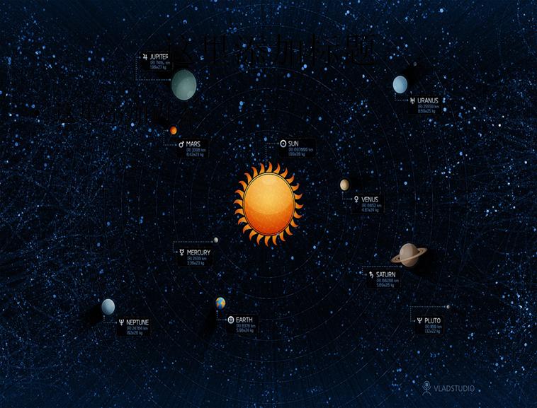 宇宙九大行星简笔画内容图片展示