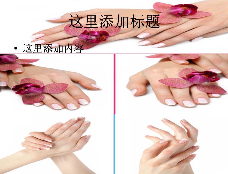 美丽双手高清图片ppt模板免费下载
