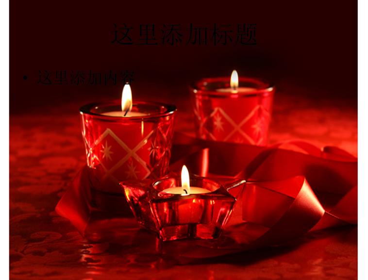 红色蜡烛图片ppt模板免费下载_158530- wps在线模板