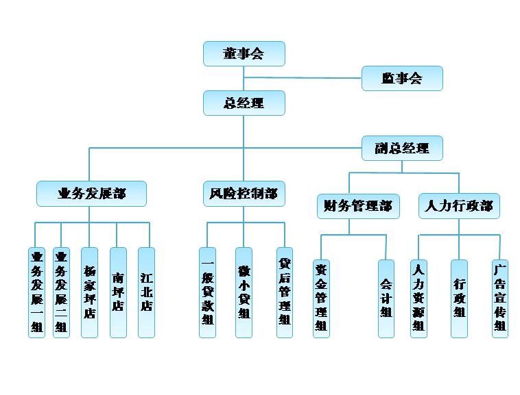 小贷组织架构图模板免费下载